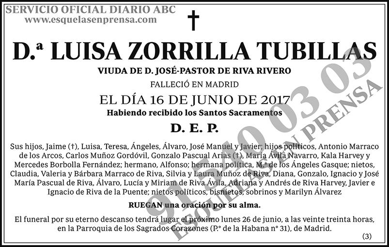 Luisa Zorrilla Tubillas
